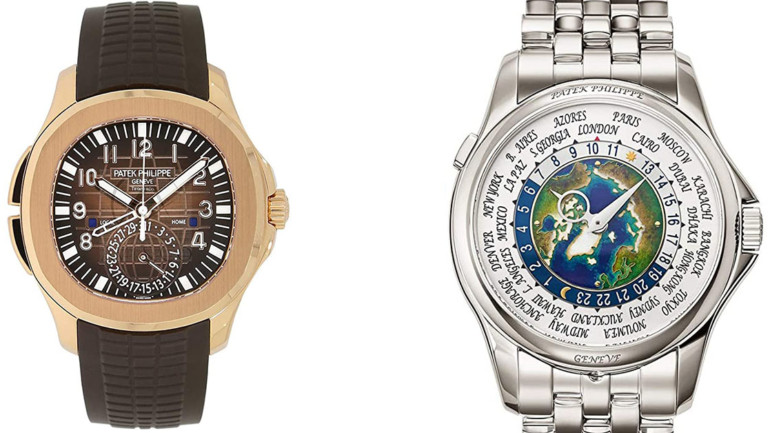 Patek Philippe World Time Men's Watch VS Aquanaut Travel Time