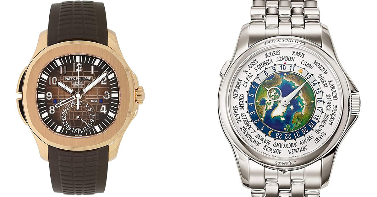 Patek Philippe World Time Men's Watch VS Aquanaut Travel Time