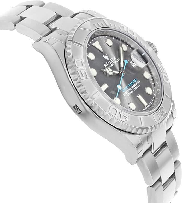 rolex yacht-master rhodium watch