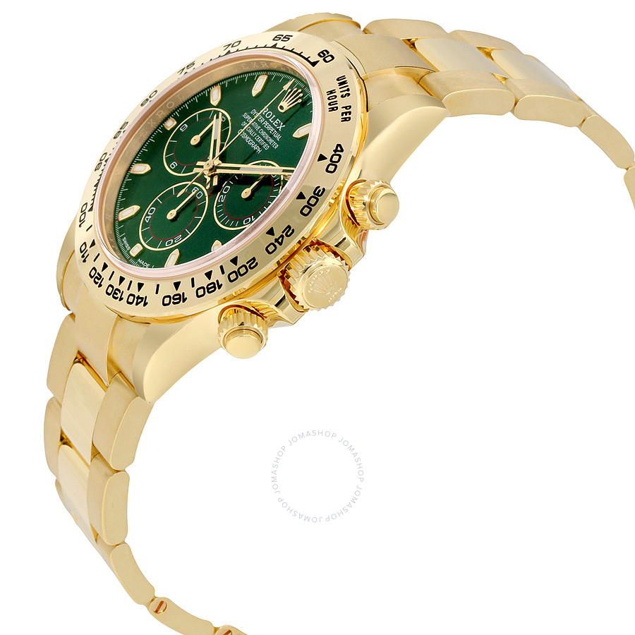 Cosmograph Daytona Green Dial 18K Yellow Gold Oyster
