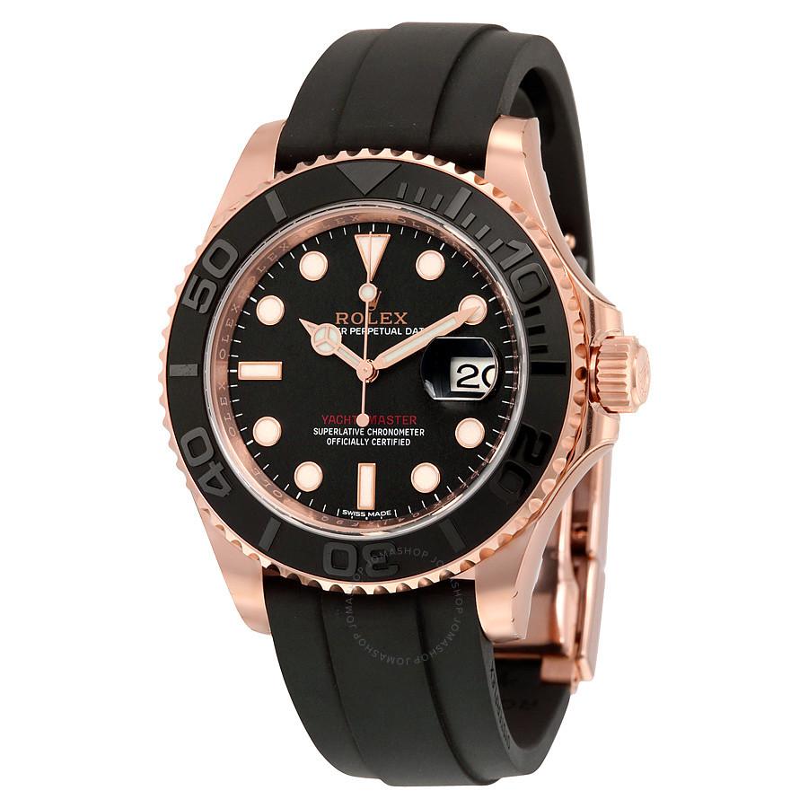 Rolex Yacht-Master 40 Black Dial 18k Rose Gold