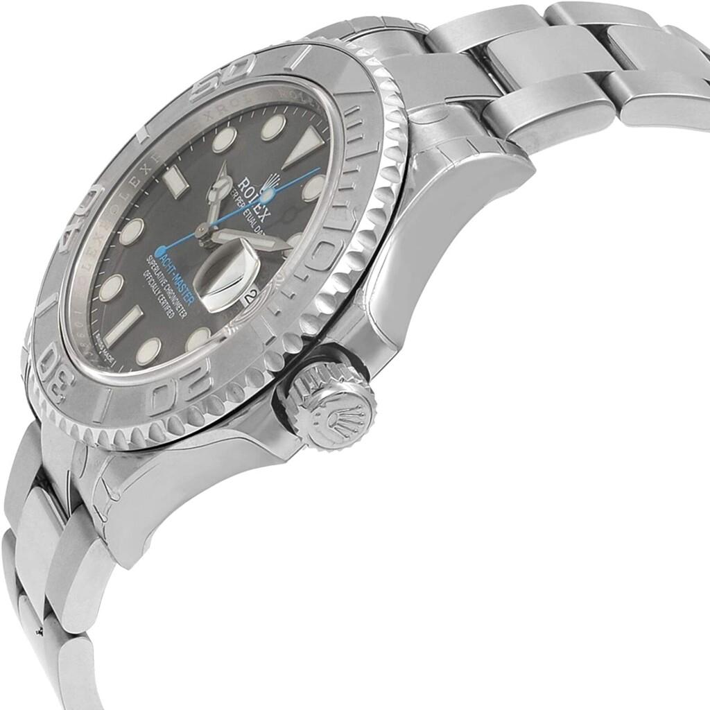 Rolex 40 Dark Platinum Dial Steel Oyster Men's Watch
