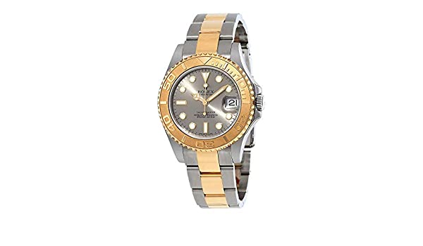 Rolex Grey Dial Stainless Steel and 18K Yellow Gold Oyster