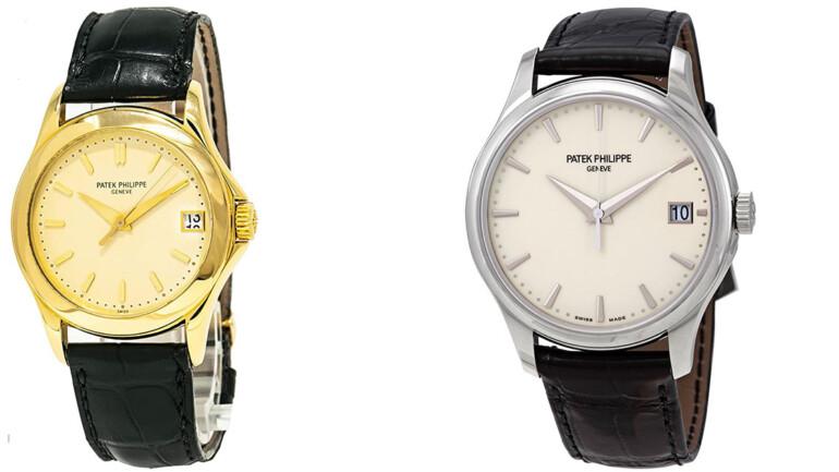 2 Luxurious Patek Philippe Calatrava Watches For Fashion Aware Men's