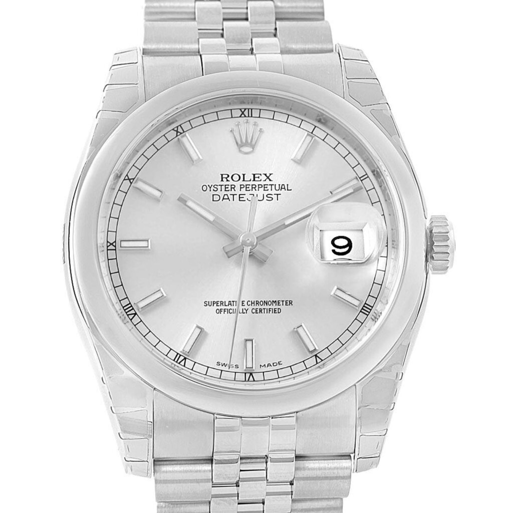 Rolex Datejust 36 White Index Dial 116200