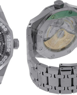 Audemars Piguet Grey Dial Diamond Bezel