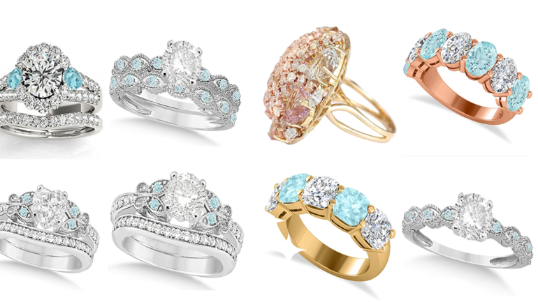 Make Your Loved One More Special With Aquamarine And Diamond Ring