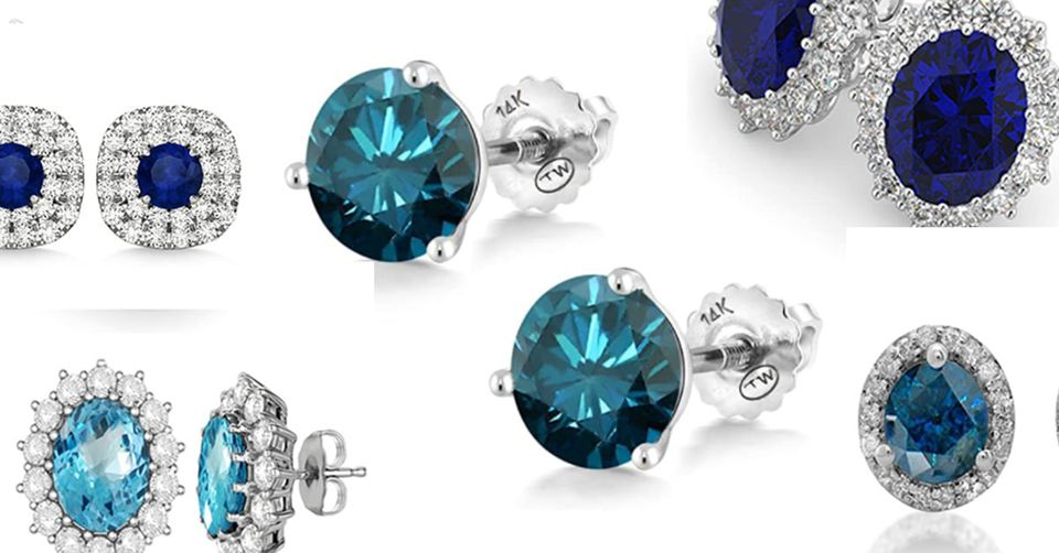 7 Most Spectacular Blue Diamond Earrings That Every Gir's Love to Have