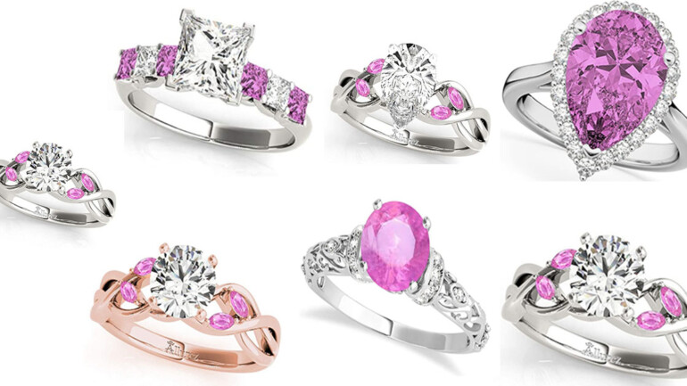 7 Best Diamond and Pink Sapphire Engagement Ring