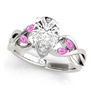 1.50 Carats Twisted Pear Pink Sapphires