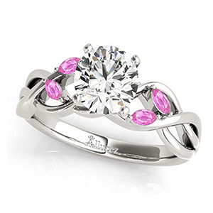 diamond and pink sapphire engagement ring