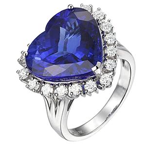 heart shaped diamond wedding ring