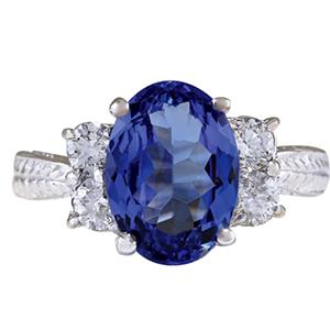 4.19 Carat Natural Blue Tanzanite 14K  ring