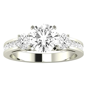 10k white gold engagement ring