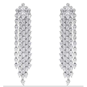 18KT WHITE GOLD earring