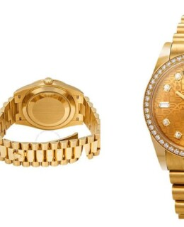 Rolex Day-Date Champagne Jubilee Automatic 18kt Yellow Gold 36 mm President Watch118348CJDP