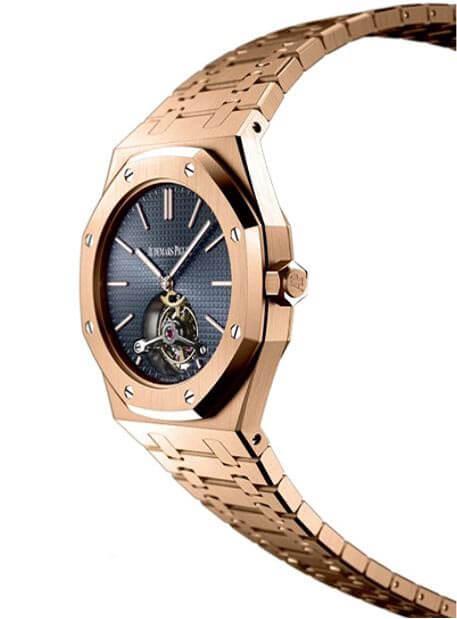 Royal oak tourbillon 41 extra thin rose gold watch